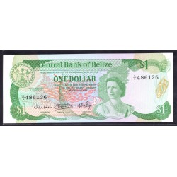 Белиз 1 доллар 1983 г. (BELIZE 1 dollar 1983 g.) P43:Unc