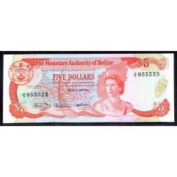 Белиз 5 долларов 1980 г. (BELIZE 5 dollars 1980 g.) P39а:Unc