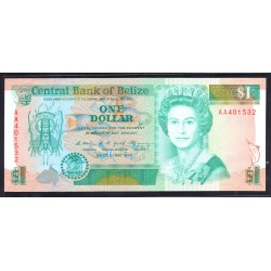 Белиз 1 доллар 1990 г. (BELIZE 1 dollar 1990 g.) P51:Unc