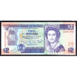 Белиз 2 доллара 1991 г. (BELIZE 2 dollars 1991 g.) P52b:Unc