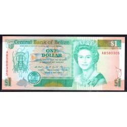 Белиз 1 доллар 1990 г. (BELIZE 1 dollar 1990 g.) P51:Unc (другая серия)