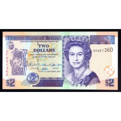 Белиз 2 доллара 2007 г. (BELIZE 2 dollars 2007 g.) P66с:Unc