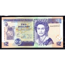 Белиз 2 доллара 2003 г. (BELIZE 2 dollars 2003 g.) P66а:Unc