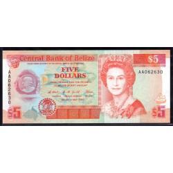 Белиз 5 долларов 1990 г. (BELIZE 5 dollars 1990 g.) P53а:Unc