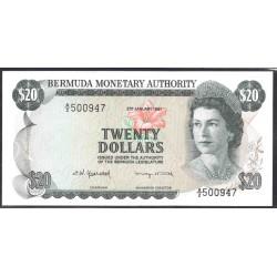 Бермудские Острова 20 долларов 1981  г. (BERMUDA 20 Dollars 1981) P31с:Unc