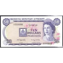 Бермудские Острова 10 долларов 1982  г. (BERMUDA 10 Dollars 1982) P30b:Unc