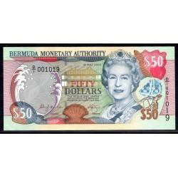 Бермудские Острова 50 долларов 2000  г. (BERMUDA 50 Dollars 2000) P54а:Unc