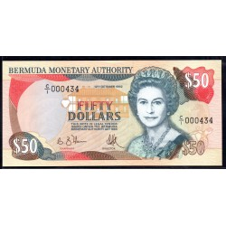 Бермудские Острова 50 долларов 1992  г. (BERMUDA 50 Dollars 1992) P44d:Unc