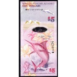 Бермудские Острова 5 долларов 2009 г. (BERMUDA 5 Dollars 2009) P58:Unc