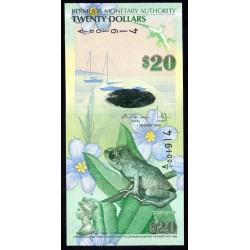 Бермудские Острова 20 долларов 2009 г. (BERMUDA 20 Dollars 2009) P60а:Unc