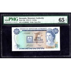 Бермудские Острова 1 доллар ND (1975 - 76 г.) (BERMUDA 1 Dollar ND (1975 - 76)) P28a:65 greid slab