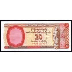 Мьянма 20 долларов ND (1996 г.) (MYANMAR 20 US Dollars ND (1996)) PFX4:Unc