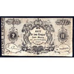 Богемия и Моравия (Австрийская) 2 крейцера 1849 г. (BOHEMIA & MORAVIA (Austrian Bohemia) 2 kreuzer 1849) P:VF+