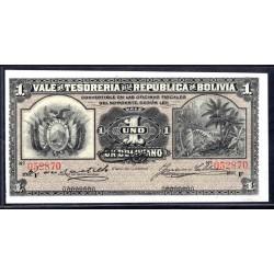 Боливия 1 боливиано 1902 г. (BOLIVIA 1 boliviano 1902 g.) P92:Unc
