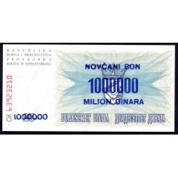 Босния и Герцеговина 1 миллион динара 1993 г. (BOSNIA & HERZEGOVINA  1.000.000 Dinara 1993) P35b:Unc