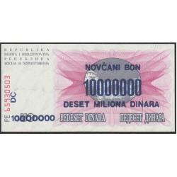 Босния и Герцеговина 10 миллионов динар 1993 г. (BOSNIA & HERZEGOVINA  10.000.000 Dinara 1993) P36: Unc