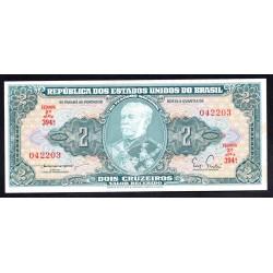 Бразилия 2 крузейро ND (1956 - 58 г.) (BRASIL 2 cruzeiros ND (1956 - 58 g.) P157Аb:Unc