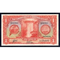 Британская Гайана 1 доллар 1938 г. (BRITISH GUIANA 1 dollar 1938 g.) P12b:aUnc