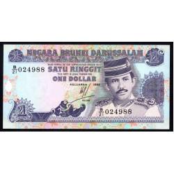 Бруней 1 ринггит 1994 г. (BRUNEI 1 Ringgit / Dollar 1994 g.) P13b:Unc