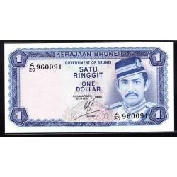 Бруней 1 ринггит 1980 г. (BRUNEI 1 Ringgit / Dollar 1980 g.) P6b:Unc
