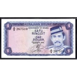Бруней 1 ринггит 1972 г. (BRUNEI 1 Ringgit / Dollar 1972 g.) P6а:Unc