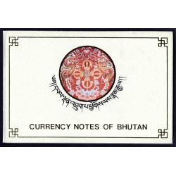 Бутан набор из 5-ти бон в буклете 1991 г. (BHUTAN  set of 5 Bon 1991) Р:Unc буклет