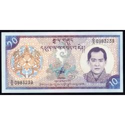 Бутан 10 нгултрум ND (2000 г.) (BHUTAN 10 Ngultrum ND (2000)) P22:Unc