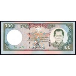 Бутан 100 нгултрум ND (2000 г.) (BHUTAN 100 Ngultrum ND (2000)) P25:Unc