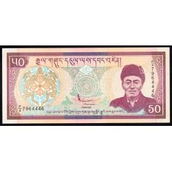 Бутан 50 нгултрум ND (2000 г.) (BHUTAN 50 Ngultrum ND (2000)) P24:Unc