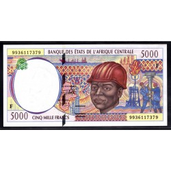 Центральная Африканская Республика 5000 франков ND (1994 - 99 г.) (Central African Republic 5000 francs ND (1994 - 99 g.)) P304Fа:Unc