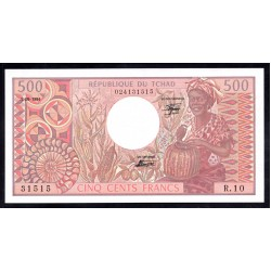 Чад 500 франков 1984 г. (CHAD 500 francs 1984 g.) P6:Unc