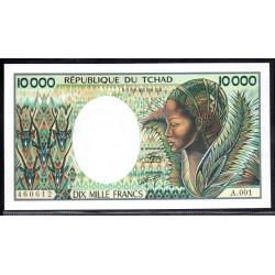 Чад  10000 франков ND (1984 - 91 г.) (CHAD 10000 francs ND (1984 - 91 g.)) P12а:Unc