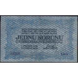 Чехословакия 1 корун 1919 г. (CZECHOSLOVAKIA 1 Koruna 1919) P6:XF