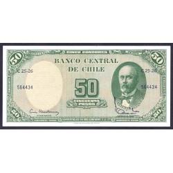 Чили 50 песо ND (1960-1961) (CHILE 5 Centésimos de Escudo ND (1960-1961)) P126b:Unc