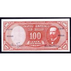Чили 100 песо ND (1960-1961г.) (CHILE 10 Centésimos de Escudo ND (1960-1961)) P127а:Unc
