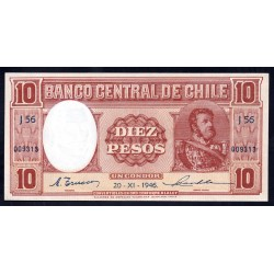 Чили 10 песо 1946 г. (CHILE 10 Pesos (1 Condor) 1946) P103:Unc