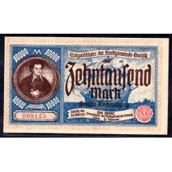 Данциг 10000 марок 1923 г. (DANZIG 10000 Mark 1923) P18:Unc