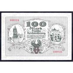 Данциг 100 марок 1922 г. (DANZIG 100 Mark 1922) P13:Unc-