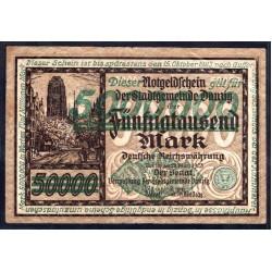 Данциг  5 миллионов марок 1923 г. (DANZIG  5.000.000 Mark 1923) P23:XF