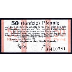 Данциг 20 пфенниг 1916 г. (DANZIG 20 Pfennig 1916) P6:Unc