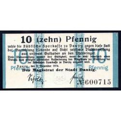 Данциг 10 пфенниг 1916 г. (DANZIG 10 Pfennig 1916) P5:Unc