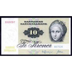 Дания 10 крон ND (1975 г.) (DENMARK 10 Kroner  ND (1975)) P48е:Unc