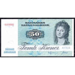 Дания 50 крон ND (1972-1998 г.) (DENMARK 50 Kroner ND (1972-1998)) P50b:Unc