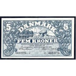 Дания 5 крон 1942 г. (DENMARK 5 Kroner 1942) P30h:Unc