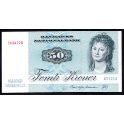 Дания 50 крон ND (1972-1998 г.) (DENMARK 50 Kroner ND (1972-1998)) P50:Unc-