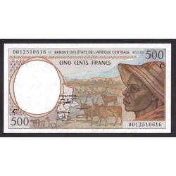 Центральные Африканские Штаты (Конго) 500 франков ND 2001 (CENTRAL AFRICAN STATES (CONGO) 500 francs ND 2001) P101Cg: Unc