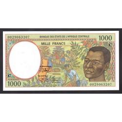 Центральные Африканские Штаты (Конго) 1000 франков ND  2002 год) (CENTRAL AFRICAN STATES (CONGO) 1000 francs ND 2002) P102Сh: Unc