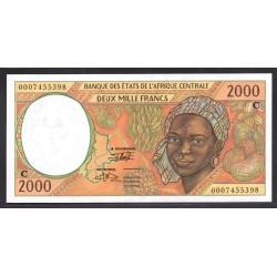 Центральные Африканские Штаты (Конго) 2000 франков ND 2000 год (CENTRAL AFRICAN STATES (CONGO) 2000 francs ND 2000) P103Сg: Unc