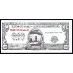 Доминиканская Республика 10 центаво ND (1961 г.) (DOMINICAN REPUBLIC 10 Centavos Oro ND (1961 g.)) P86:Unc