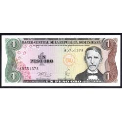 Доминиканская Республика 1 песо 1978 г. (DOMINICAN REPUBLIC 1 Peso Oro 1978 g.) P116а:Unc